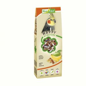 PREMIUM FOOD FOR MEDIUM PARROTS WITH APPLES, NUTS AND BANANAS 700GM