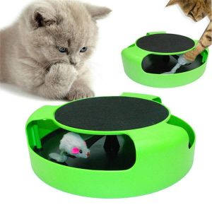 Catch The Mouse Motion Cat Toy With Cat Interactive Toy (Cat Scratching Pad)