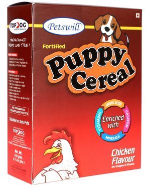Petswill Pet Food Cereal Chicken - for Puppies & Kittens 400GM