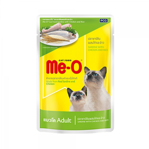Me-O Sardine With Chicken And Rice 80 grams (48 pouches)