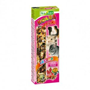 CLASSIC STICK FOR RODENTS AND RABBITS WITH WILD ROSE AND CURRANTS 115gm