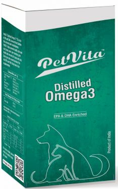 PetVita Distilled Omega3 for Small Pets Dogs, Puppies,Cats,Kittens (100ml)