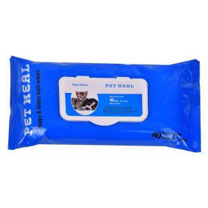 PETHEAL PUPPY AND KITTEN WIPES 40 PCS 18X20 CM