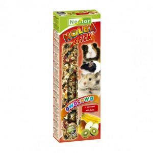 CLASSIC STICK FOR RODENTS AND RABBITS WITH FRUITS 115gm