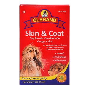 GLENAND SKIN AND COAT BISCUITS 500g
