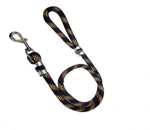 PETZ ROPE DOG LEASH BALCK WITH GOLDEN PRINTED 8MM (Color May Vary)