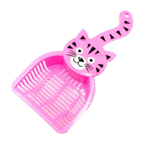 Glenand Thick Plastic Cat Litter Scooper With Cat Face