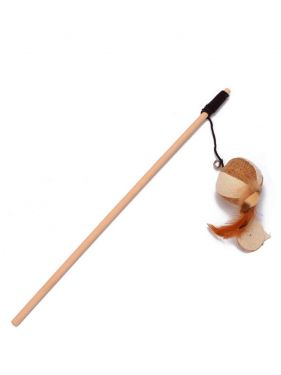 Cat Teaser Playing Stick- (Spiral) Feather Interactive Cat Toy