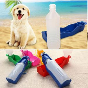 TRIXIE Outdoor Travel Portable BOTTLE WITH BOWL 500 ML ASSORTED COLOURS