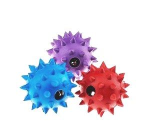 Rubber Spike Ball With Bell Small (Color May Vary 1 Piece)