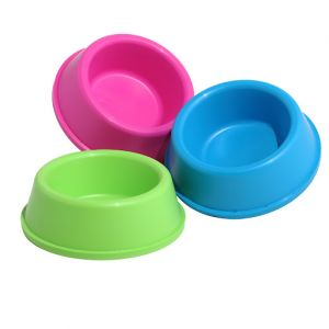 Pet Plastic Bowl For Dog Made of Environmental Health Plastic Safe Non-Toxic (SMALL)