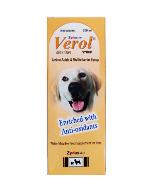 Verol Amino Acids & Multivitamin Syrup for Dogs and Cats (200 ml)