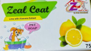 Zeal Coat Lime with Aloevera Extract Dog Soap 75g
